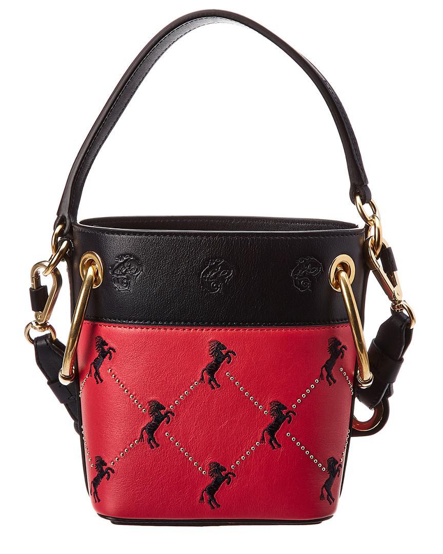 5ba59949 Chloé Roy Mini Horse Embroidered Leather Bucket Bag
