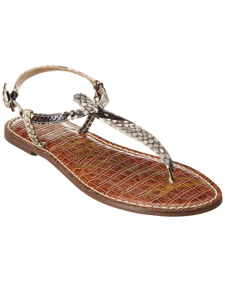 159667208 Lyst - Sam Edelman Gigi Leather Sandal in Gray