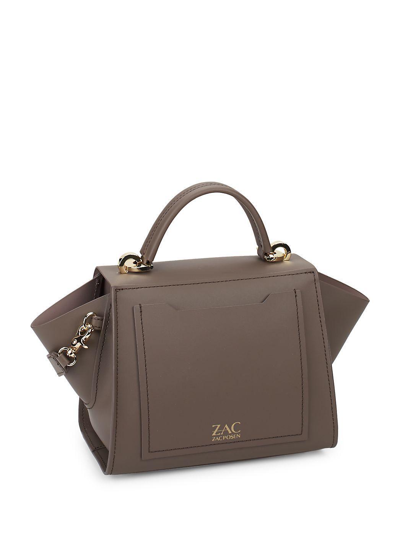 Zac Zac Posen Eartha Iconic Leather Bag In Dark Brown