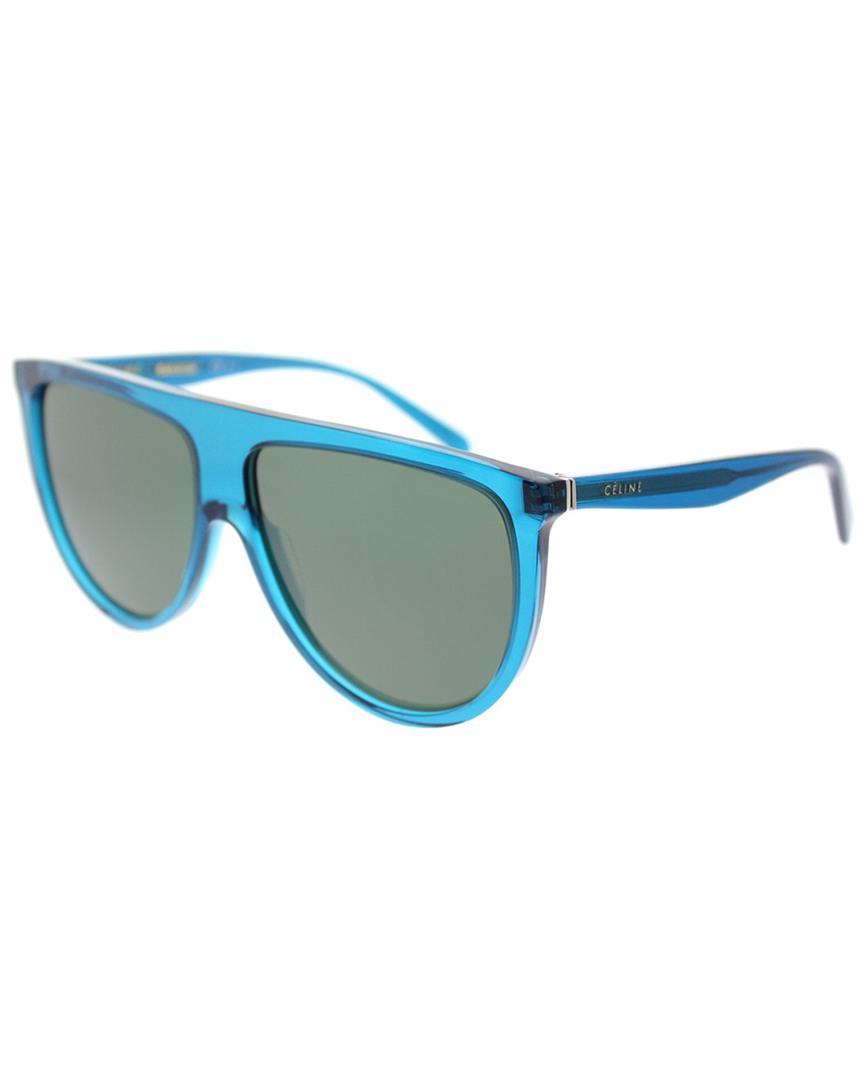 381d5de128 Lyst - Céline Geometric 61mm Sunglasses in Blue - Save 13%