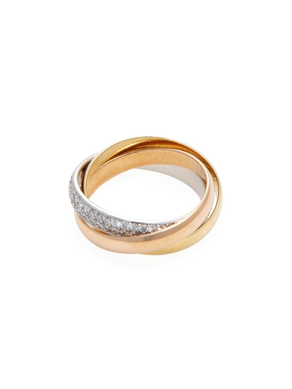 TrioStar Womens 14K Yellow Gold Plated 0.06Ct Diamond Studded Nose Stud