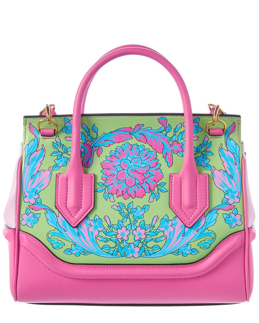 1fffd14945 Versace Palazzo Empire Medium Leather Shoulder Bag in Pink - Lyst