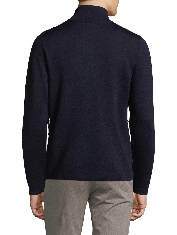 J.Lindeberg Tender Zip Merino Wool Tech Jacket in Navy (Blue) for Men