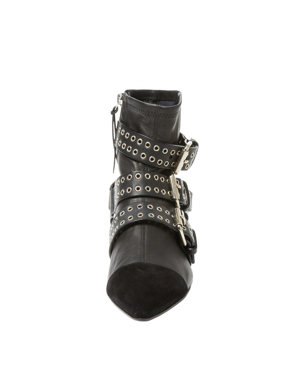 Isabel Marant Suede Rolling Grommet Bootie in Black