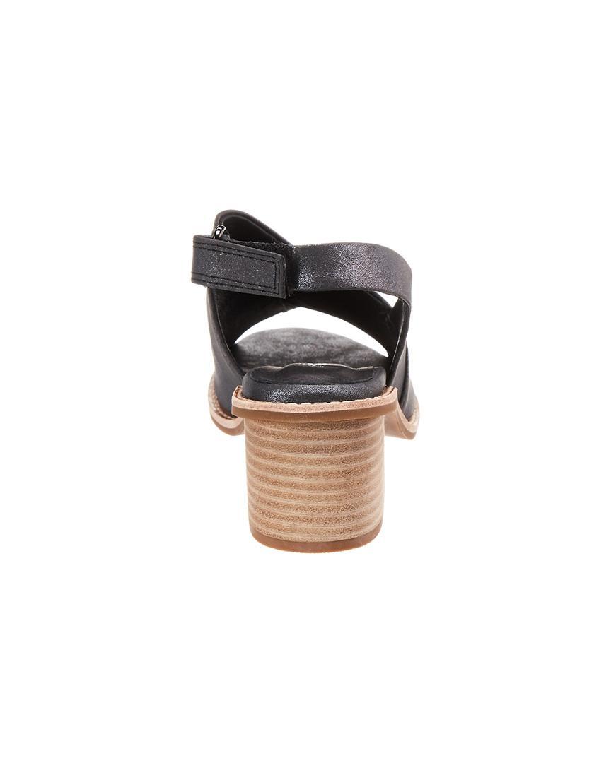 Antelope 503 Heeled Leather Sandal in Metallic (Black) - Save 3%
