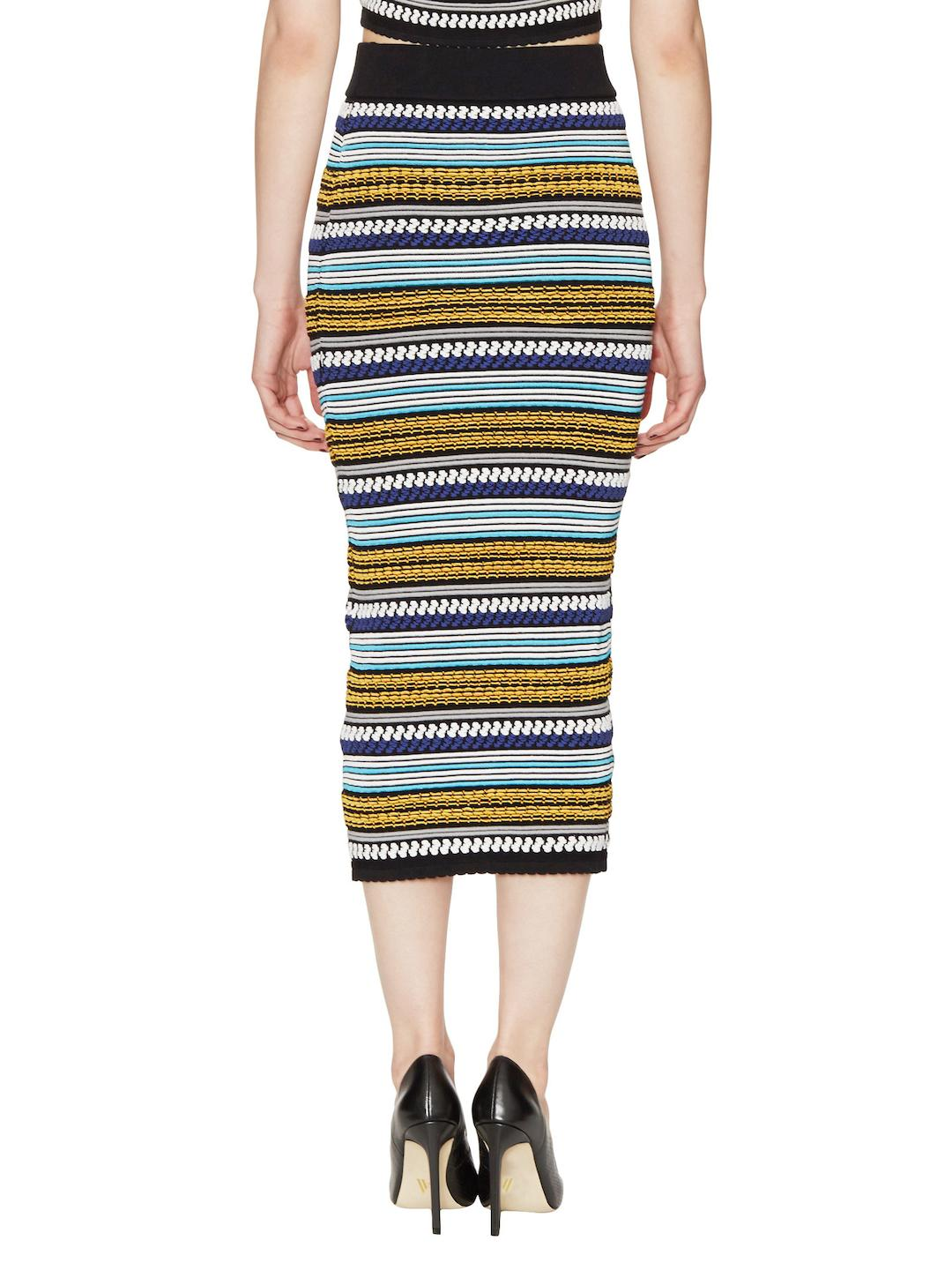 Torn By Ronny Kobo Synthetic Ronny Bubble Knit Midi Skirt in Blue