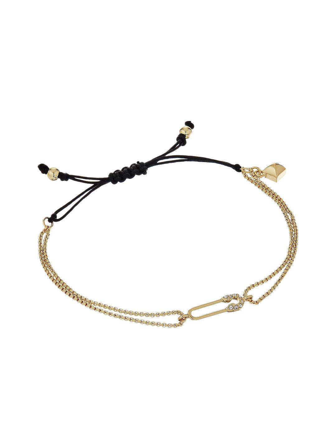 Rebecca Minkoff Stone Pulley Bracelet in Metallic Gold PHxH2t