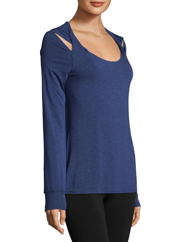 4d0b766e72a9 Lyst - Splendid Hooded Twist Shoulder Tunic in Blue