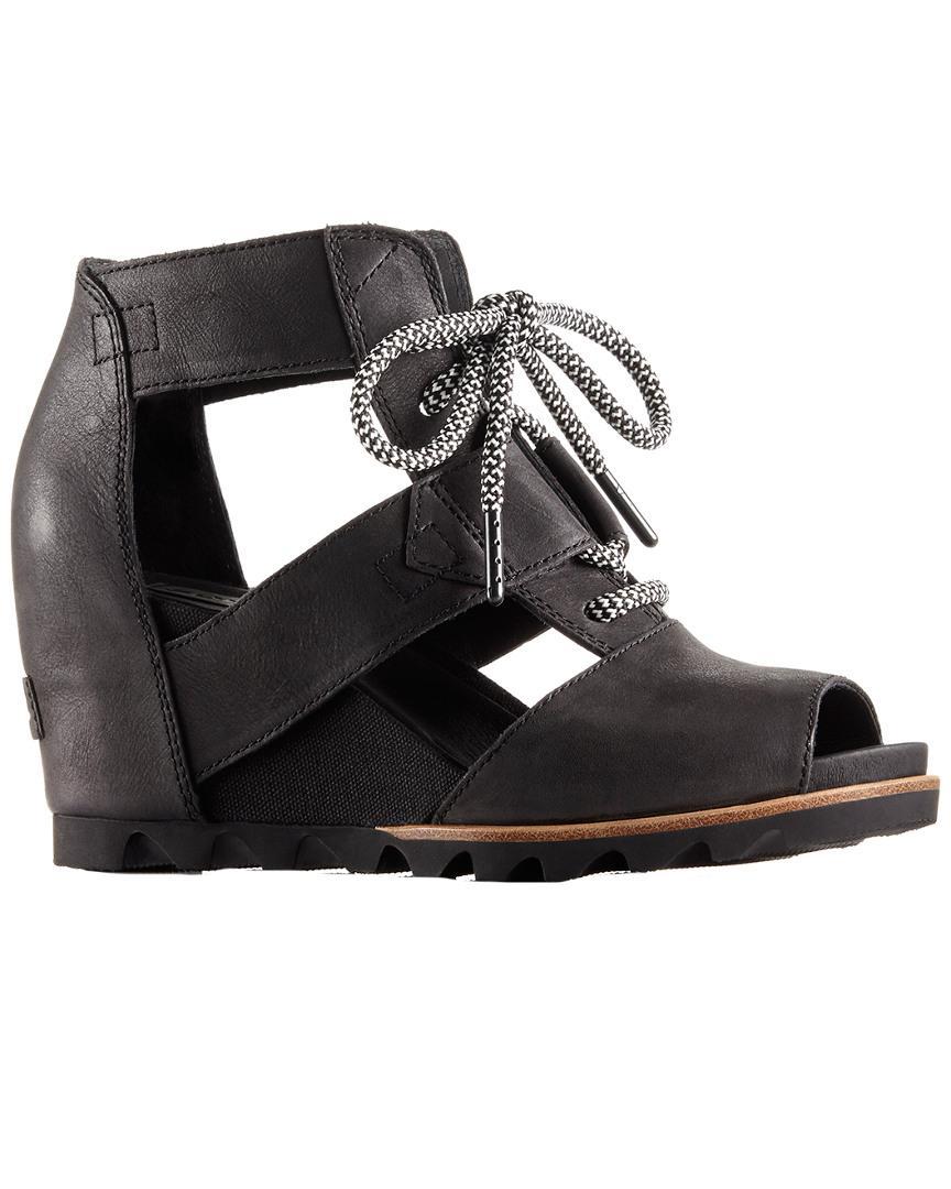11a4ba7b4a8 Lyst - Sorel Joanie Lace Leather Sandal in Black