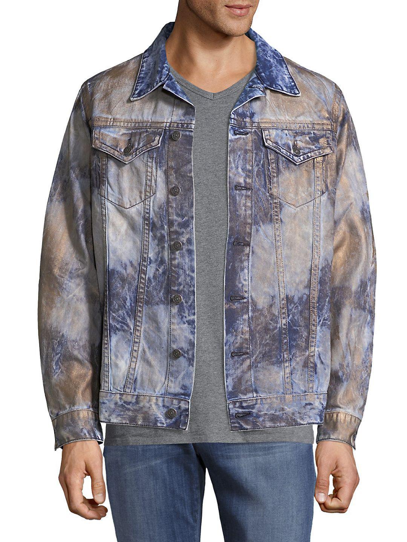 Robin's Jean Dyed Denim Trucker Jacket in Blue for Men