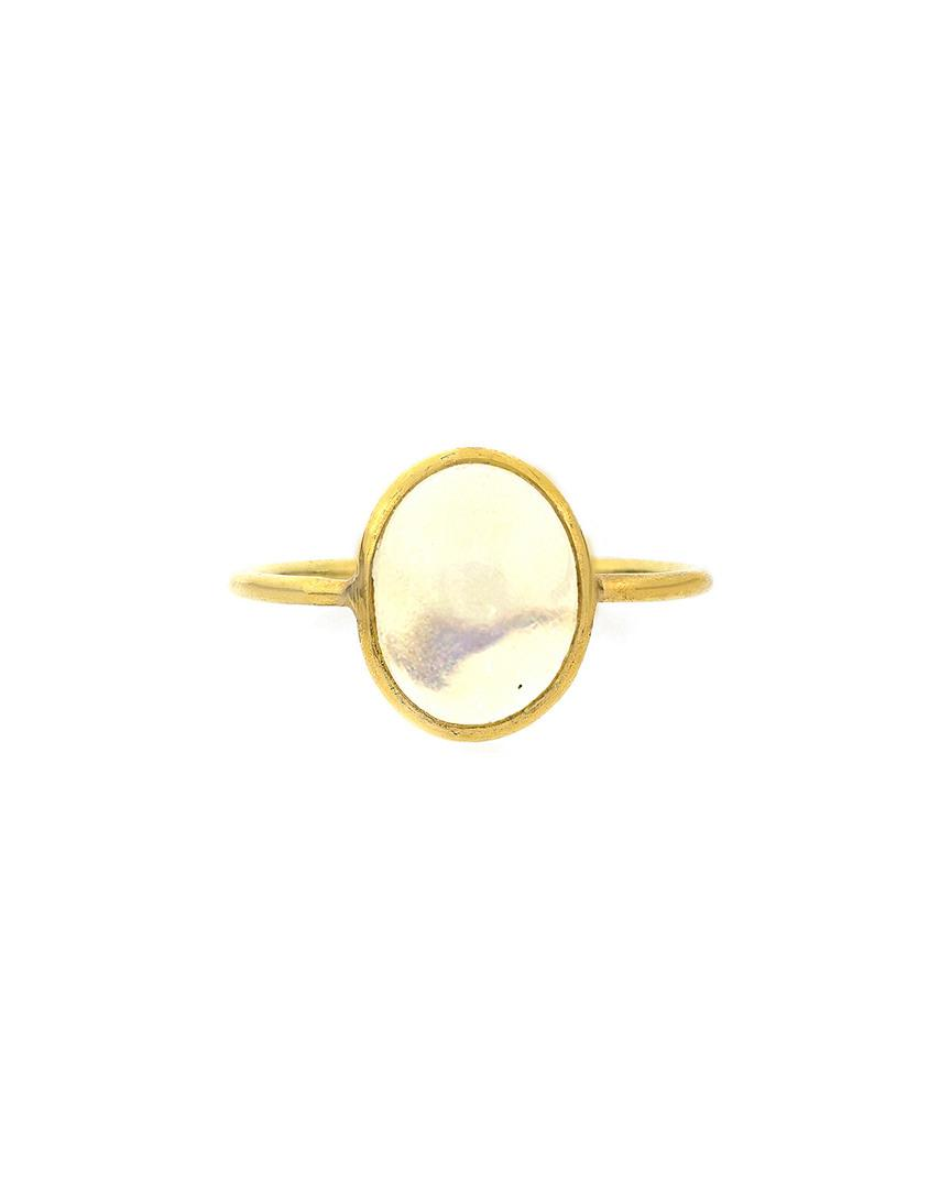 Adornia Fine Jewelry 18k Opal Ring in Metallic