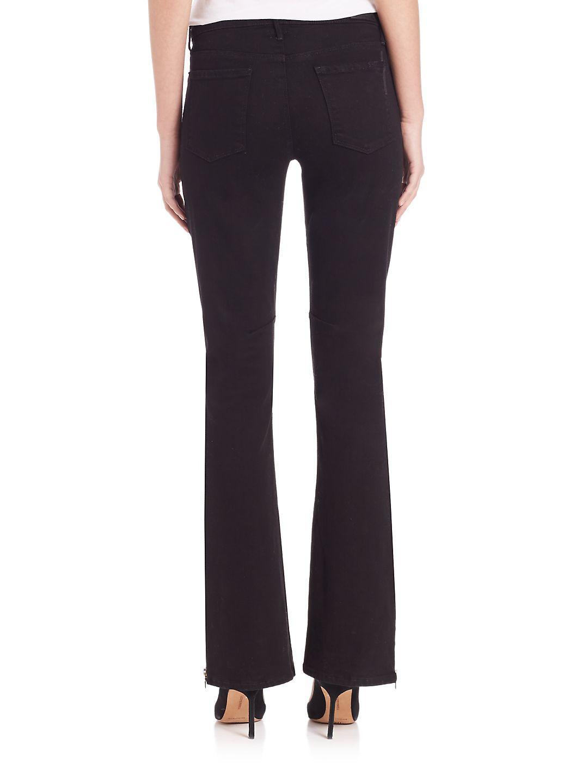 RTA Denim Margaux Super Zip Flared Jeans in Black