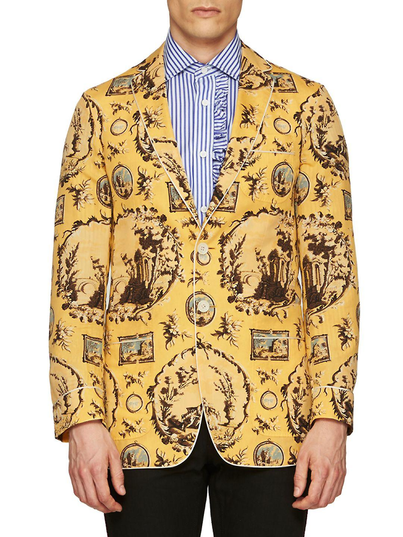Wallpaper Blazer in Yellow for Men - Lyst