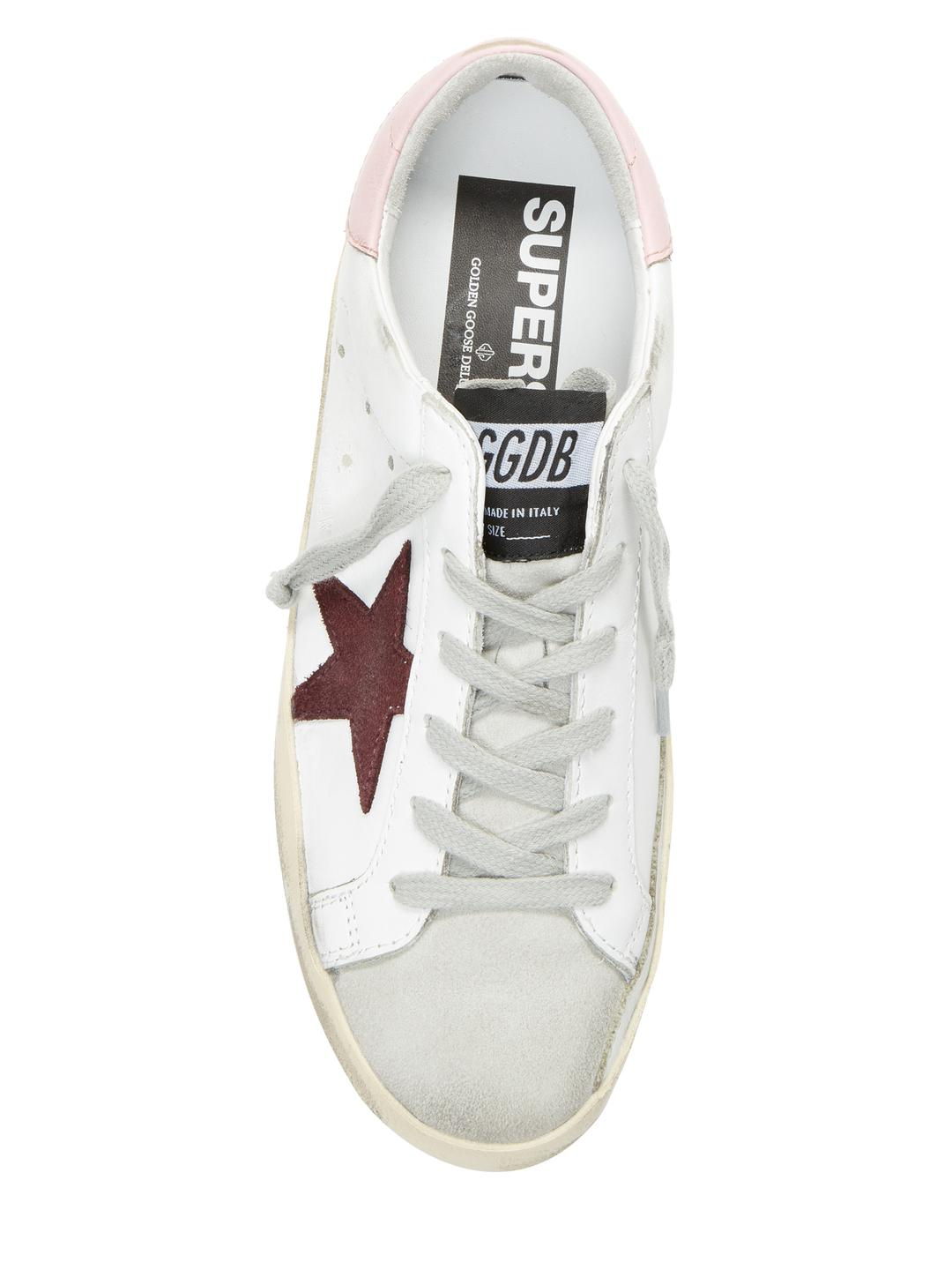 Golden Goose Deluxe Brand Leather Star Patch Sneakers in White