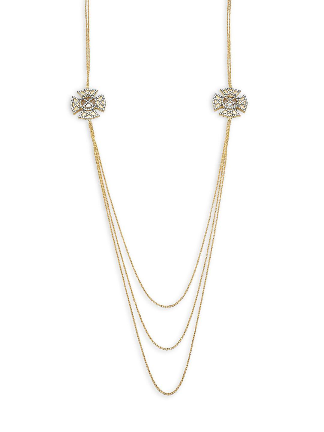 Freida Rothman Classic Cubic Zirconia & 14k Gold-plated Sterling Silver Necklace in Metallic