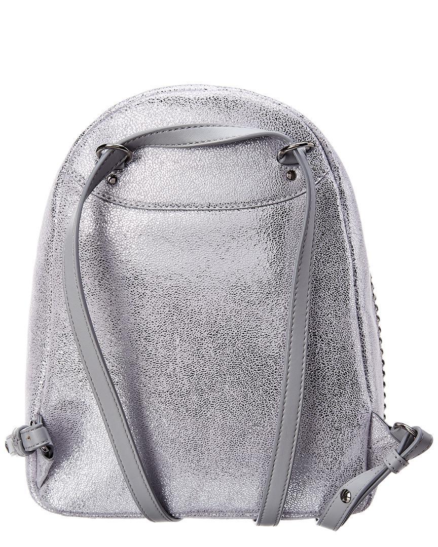 dcb016c493fb Lyst - Stella Mccartney Mini Falabella Shaggy Deer Backpack in Metallic -  Save 0.1190476190476204%