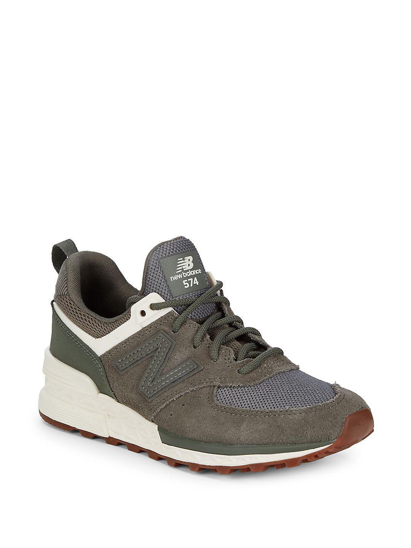 New Balance Mens Logo Laceup Sneakers