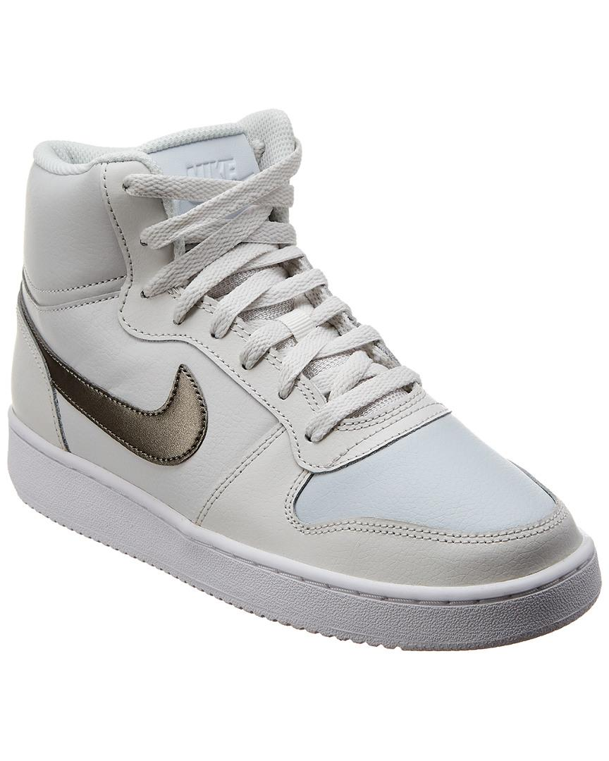 detailed pictures 50b95 b13ce Nike. Women s White Ebernon Mid-top Leather Trainer