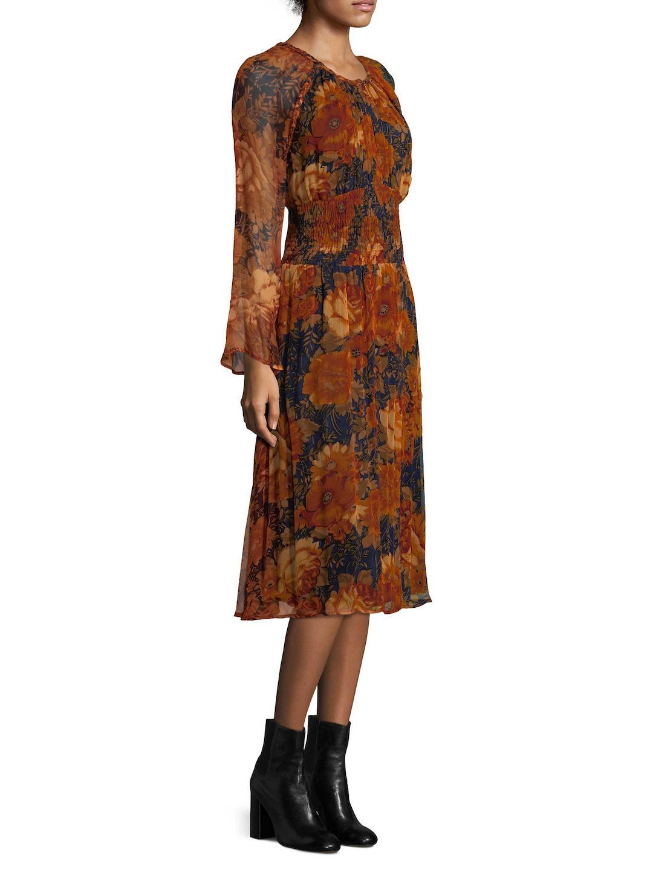 Lyst - Antik Batik Mony Floral Blouson Dress in Brown 0910eb5a3