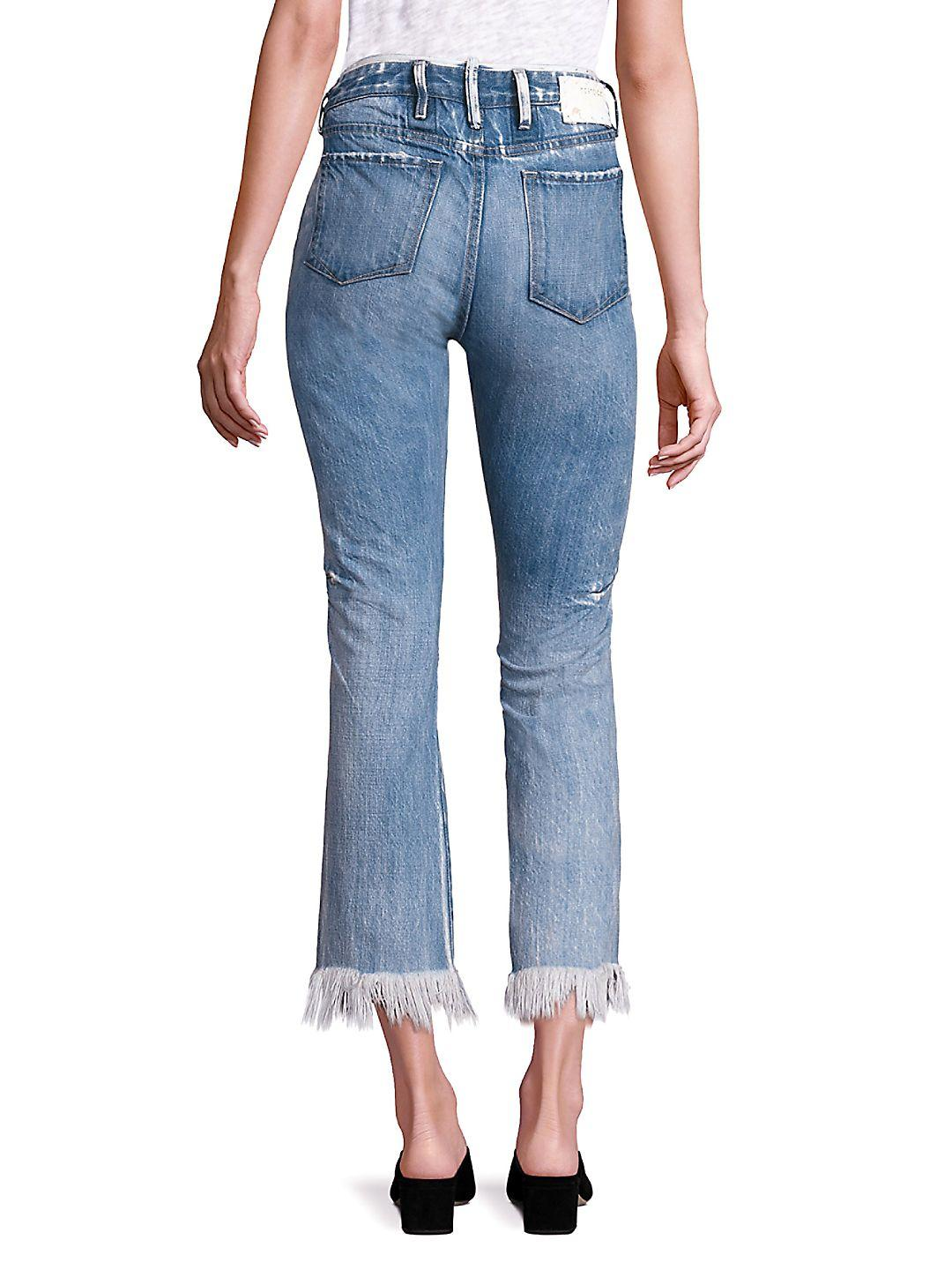 Tortoise Denim Bellatula High-waist Cropped Flared Jeans in Sky Blue (Blue)