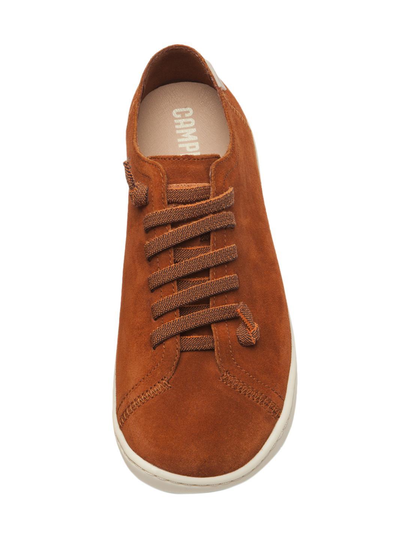 Camper Leather Peu Cami Low-top Sneaker in Brown