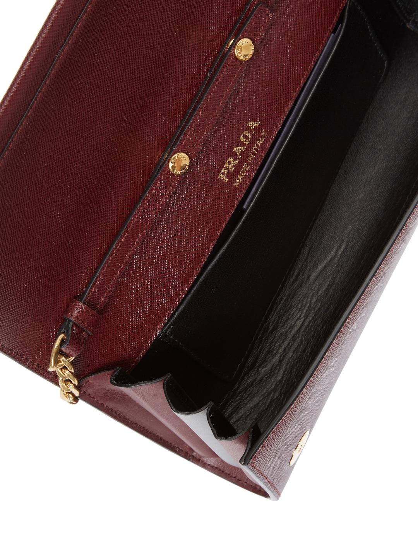 Prada Chain Crossbody Bag in Dark Red (Red)