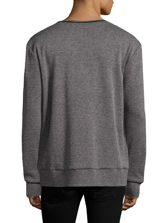 Twenty Cotton Crewneck Knit Sweatshirt in Grey for Men