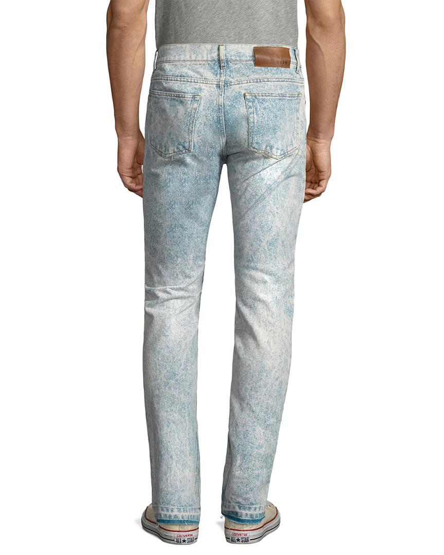 9355a7538b1 Lyst - MSGM Distressed Slim Fit Pant in Blue for Men - Save 23%