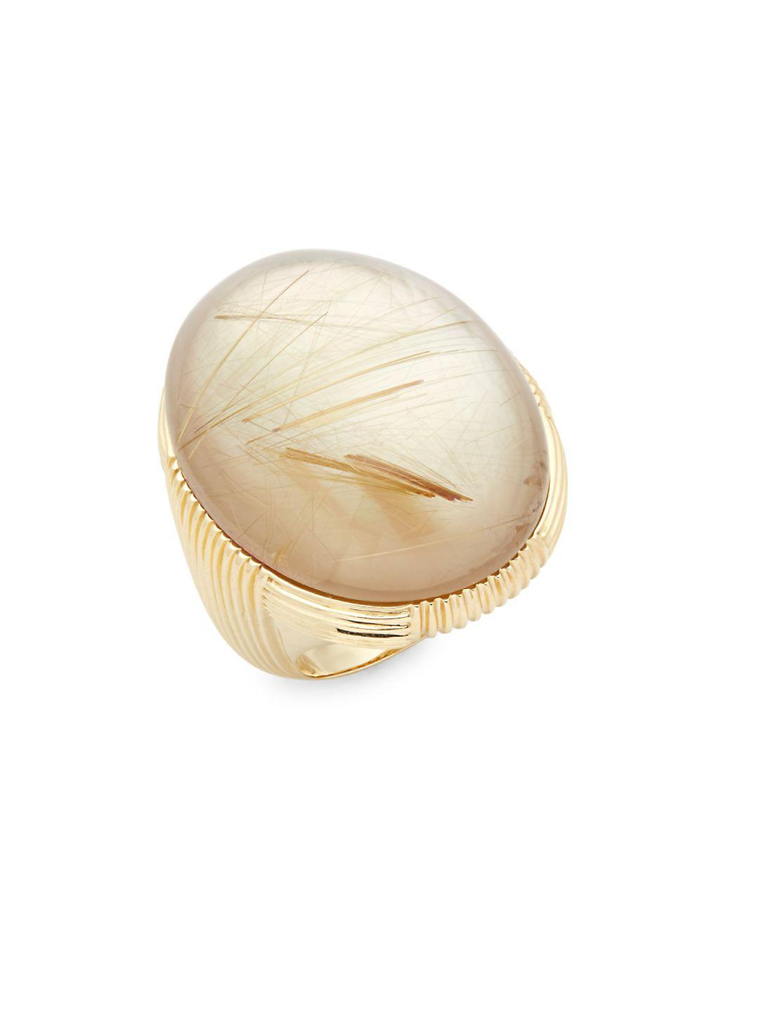 Roberto Coin Synthetic Mother-of-pearl And 18k Gold Ring in Metallic
