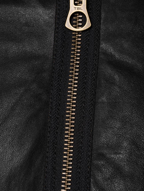 e9739daea Timberland Black Mount Webster Leather Bomber Jacket for men