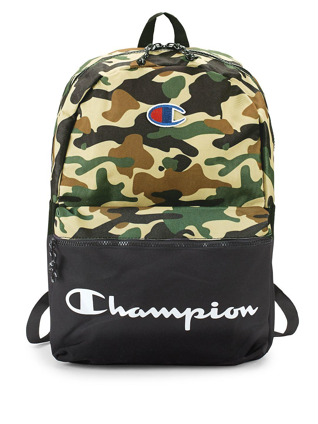 Champion Cotton Forever Champ The Manuscript Backpack in Black