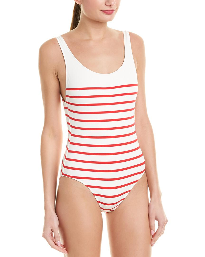 9f6d6acb2e665 Lyst - Solid & Striped The Anne-marie One-piece in White - Save 1%
