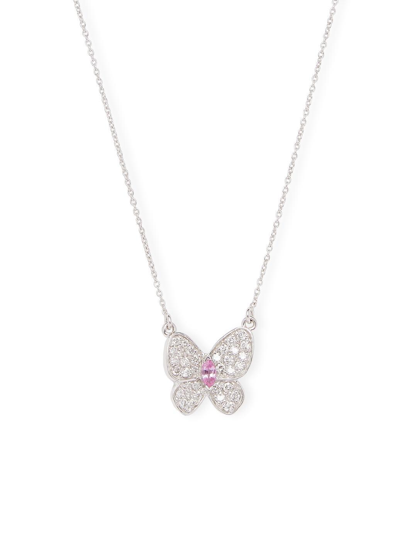 Sian Bostwick Jewellery Butterfly Twisting Vine Necklace - 15 Chain 3coHcYq