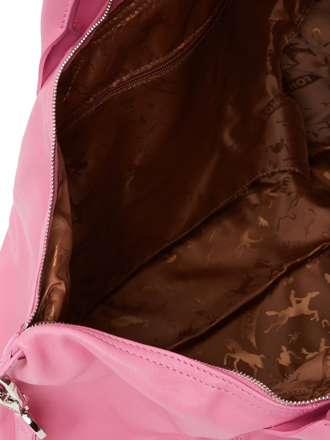 Longchamp Le Pliage Cuir Leather Top Handle in Pink