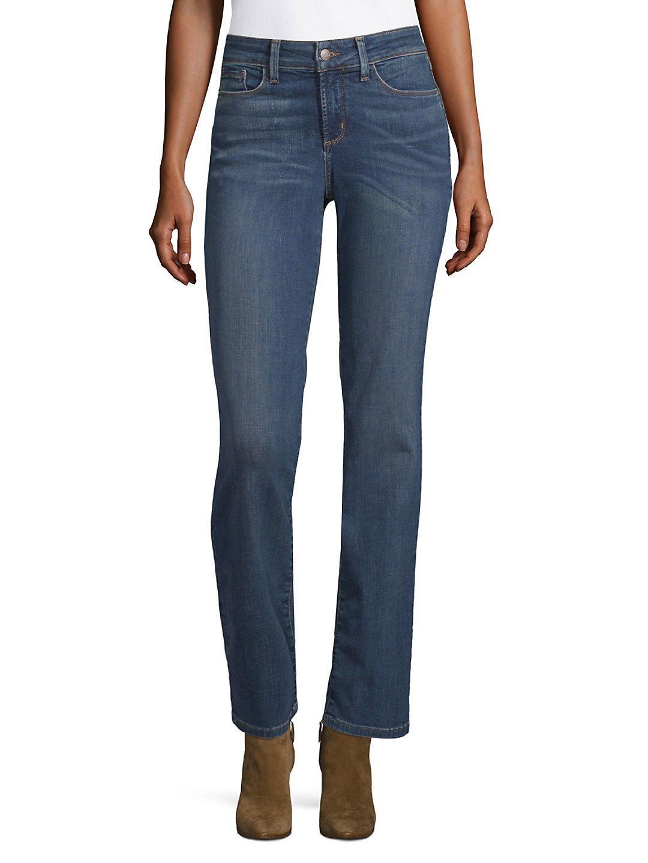 NYDJ Denim Marilyn Straight-leg Jeans in Blue