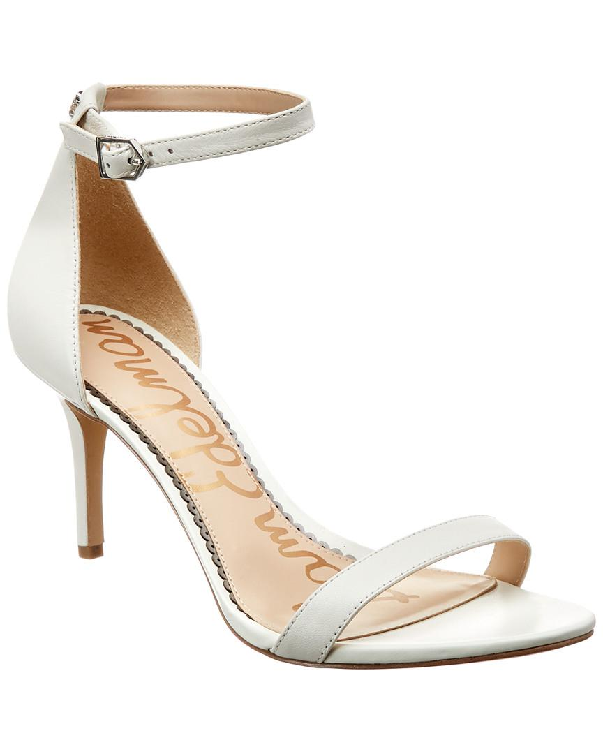 1b34801d936e Sam Edelman. Women s White Patti Strappy Sandal Heel (light Gold Leather) High  Heels