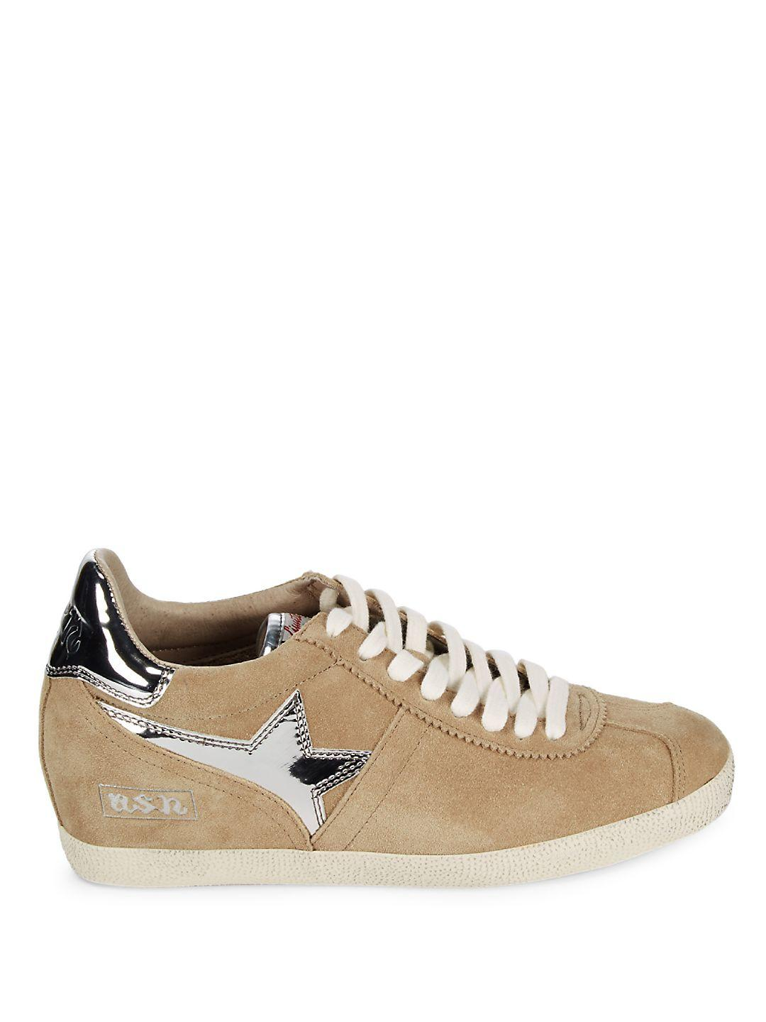 Ash Guepard Leather Sneakers in Brown