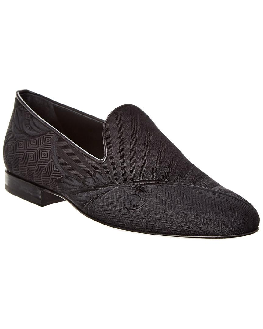 3b04278b606 Lyst - Versace Medusa Head Leather Loafer in Black for Men