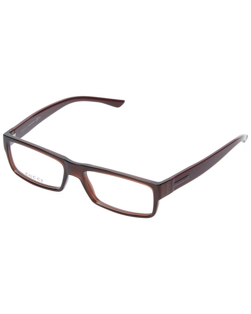 b6079daa8c Gucci - Brown Clothing   Accessories Saddle Wayfarer Optical Frame for Men  - Lyst. View fullscreen