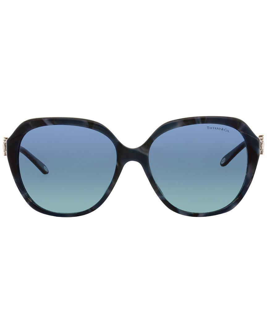Tiffany & Co. Women's Tf4132bf 57mm Sunglasses in Blue