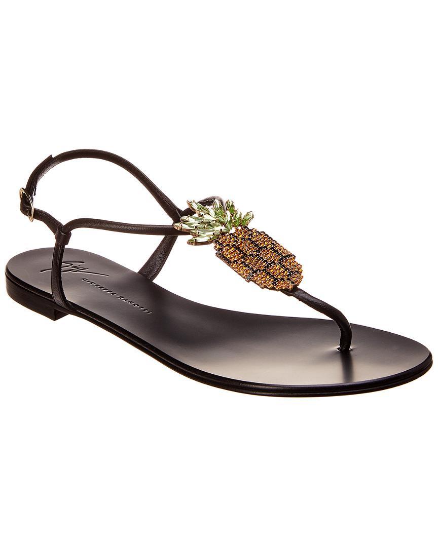 93a135ff8283b Lyst - Giuseppe Zanotti Leather Sandal in Black