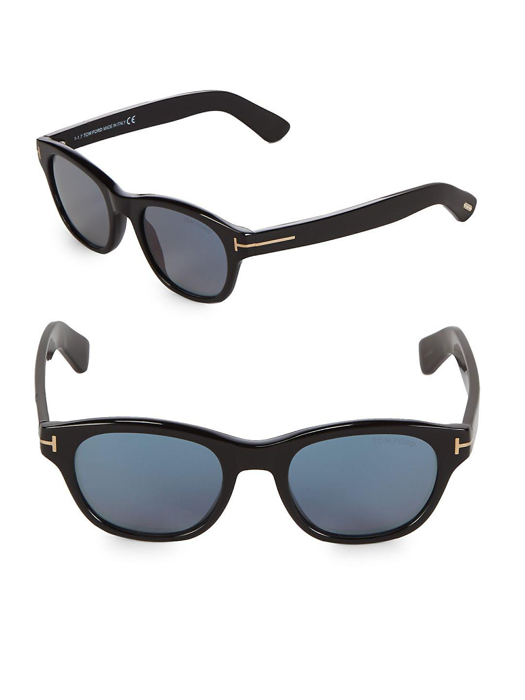 Tom Ford 51mm Square Sunglasses in Black