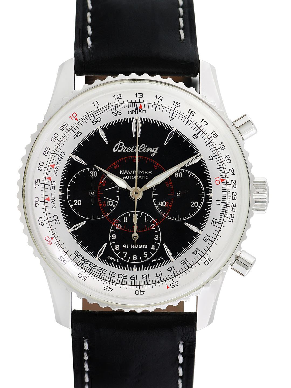 Men S Black Vintage Breitling Navitimer Montbrillant Watch 38mm