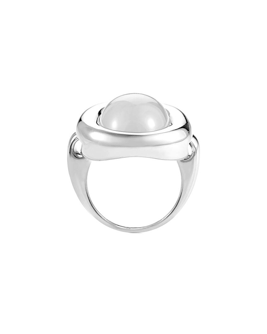 Poiray 18k 16.00 Ct.chalcedony Ring in Metallic