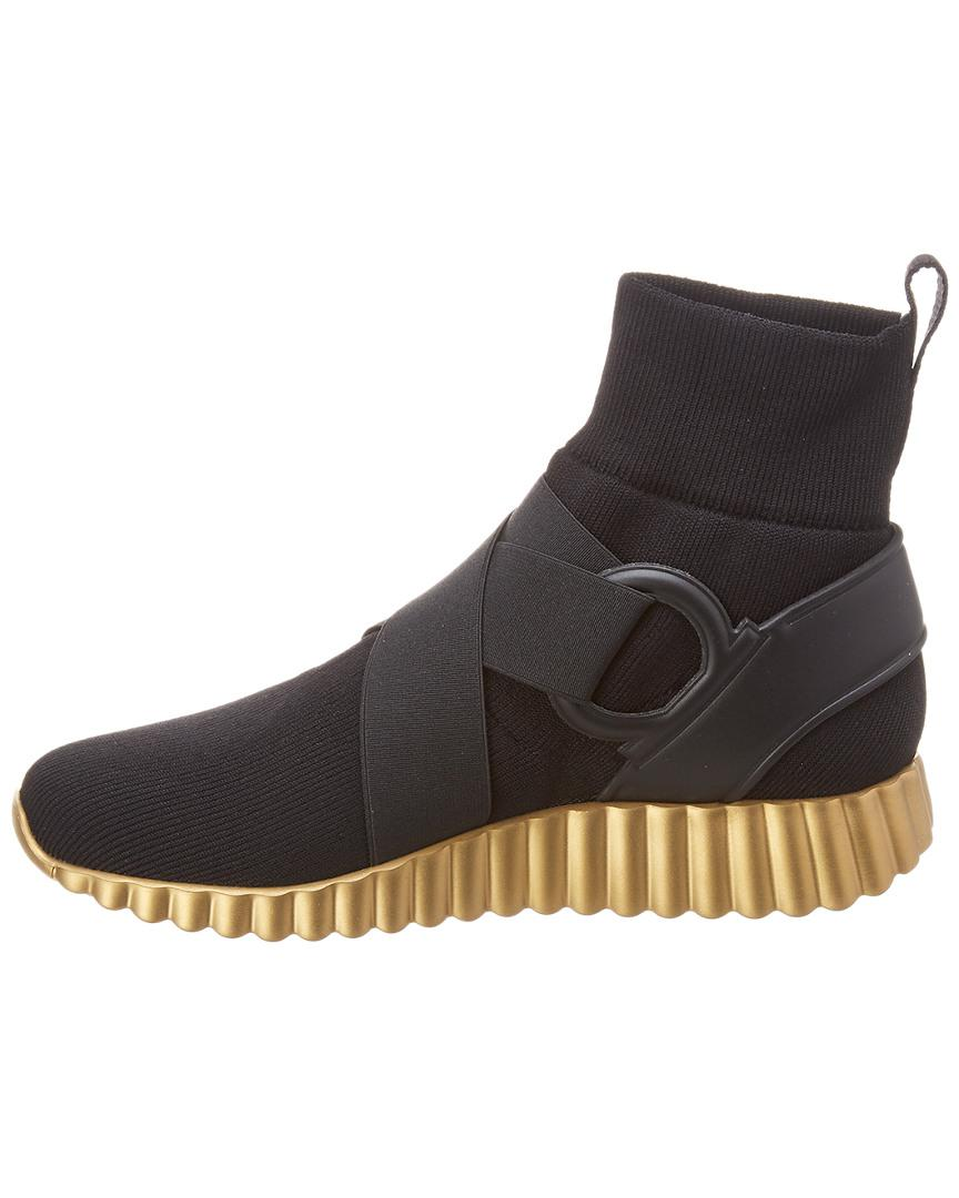 485e425447 Lyst - Ferragamo Wave Sole High Top Sneaker in Black - Save 10%