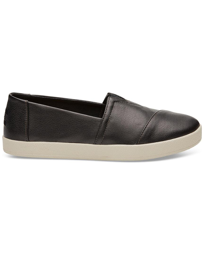 TOMS Synthetic Avalon Slip-on in Black