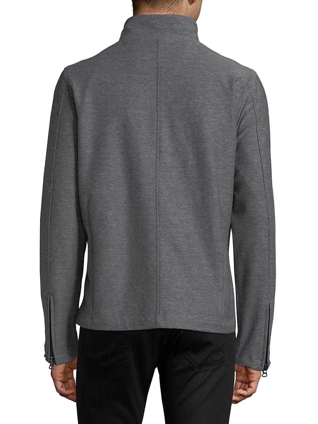 Civil Society Cotton Knit Jacket in Heather Grey (Grey) for Men