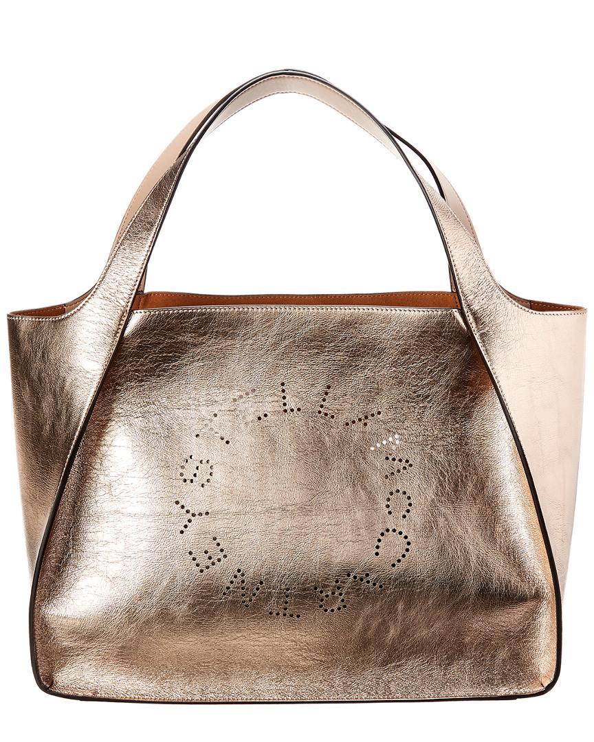 d10c29be57 Lyst - Stella Mccartney Logo Metallic Tote - Save 12.515644555694621%