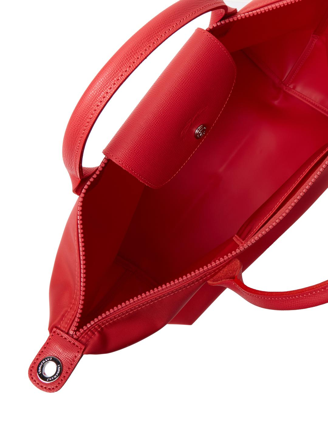Longchamp Synthetic Le Pliage Nylon Medium Short Handle Tote in Red
