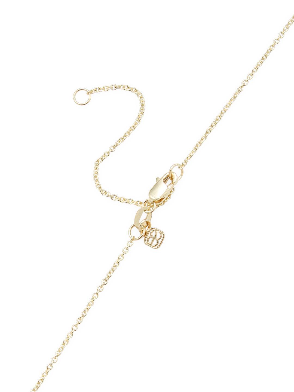 Sydney Evan 14k Yellow Gold Pisces Enamel Medallion in Metallic